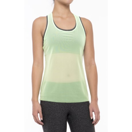 New Balance Mesh Tank Top - Semi Sheer, Racerback (For Women) in Agrave Green