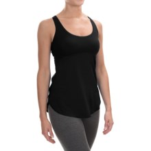 New Balance Mixed Media Hybrid Tank Top - Built-In Bra (For Women) in Black - Closeouts