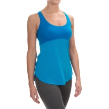 New Balance Mixed Media Hybrid Tank Top - Built-In Bra (For Women) in Sonar - Closeouts