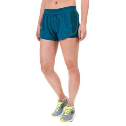 New Balance Mixed Media Shorts - Built-In Shorts (For Women) in Castaway - Closeouts