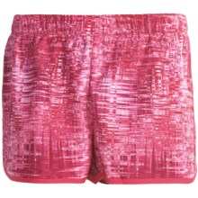 New Balance Momentum Print Shorts (For Women) in Raspberry - Closeouts