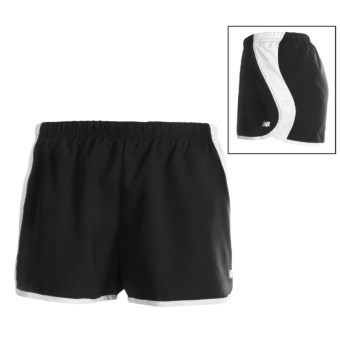 New Balance Momentum Run Shorts (For Women) in Black/White