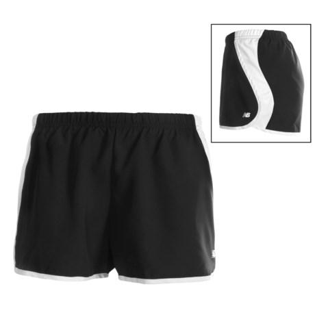 New Balance Momentum Run Shorts (For Women) in Black/White