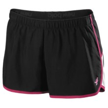 New Balance Momentum Running Shorts - Pink Ribbon (For Women) in Black - Closeouts