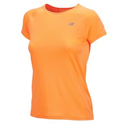 New Balance Momentum Shirt - Short Sleeve (For Women) in Orange Pop