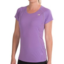 New Balance Momentum Shirt - Short Sleeve (For Women) in Violet Tulip - Closeouts