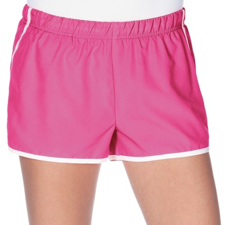 New Balance Momentum Shorts - Built-In Brief (For Women) in Pink/White/Black