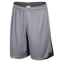 "New Balance Momentum Trainer Shorts - 9"" (For Men) in Silver Filigree W/ Black - Closeouts"