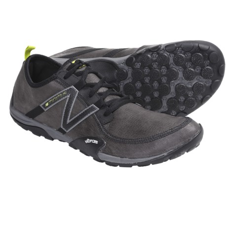 New Balance MT10 Minimus Leather Trail Shoes - Minimalist (For Men) in Grey/Green