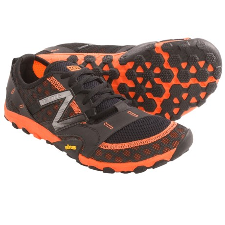 New Balance MT10 Minimus Trail Running Shoes (For Men) in Black/Orange
