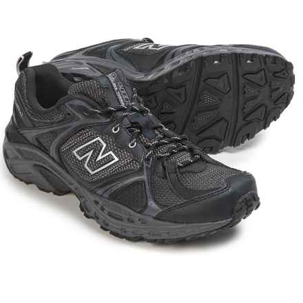 New Balance MT481 Trail Running Shoes (For Men) in Black/Silver/Gray - Closeouts