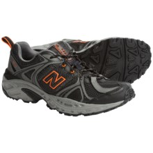 New Balance MT481 Trail Running Shoes (For Men) in Grey / Dark Grey / Orange - Closeouts