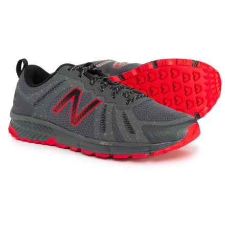 New Balance MT590 V4 Trail Running Shoes (For Men) in Grey/Red - Closeouts