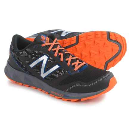 New Balance MT590v2 Trail Running Shoes (For Men) in Black/Silver/Orange - Closeouts
