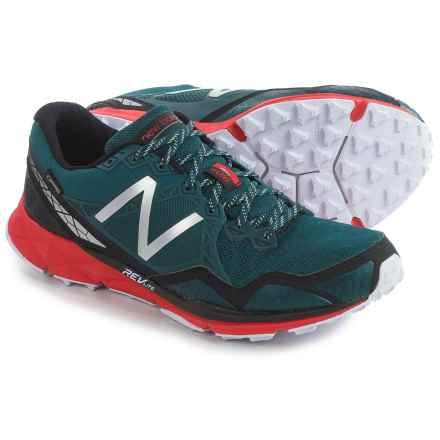 New Balance MT910V3 Gore-Tex® Trail Running Shoes - Waterproof (For Men) in Green/Red - Closeouts