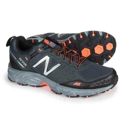 New Balance MTE573v3 Trail Running Shoes (For Men) in Gunmetal/Blue - Closeouts