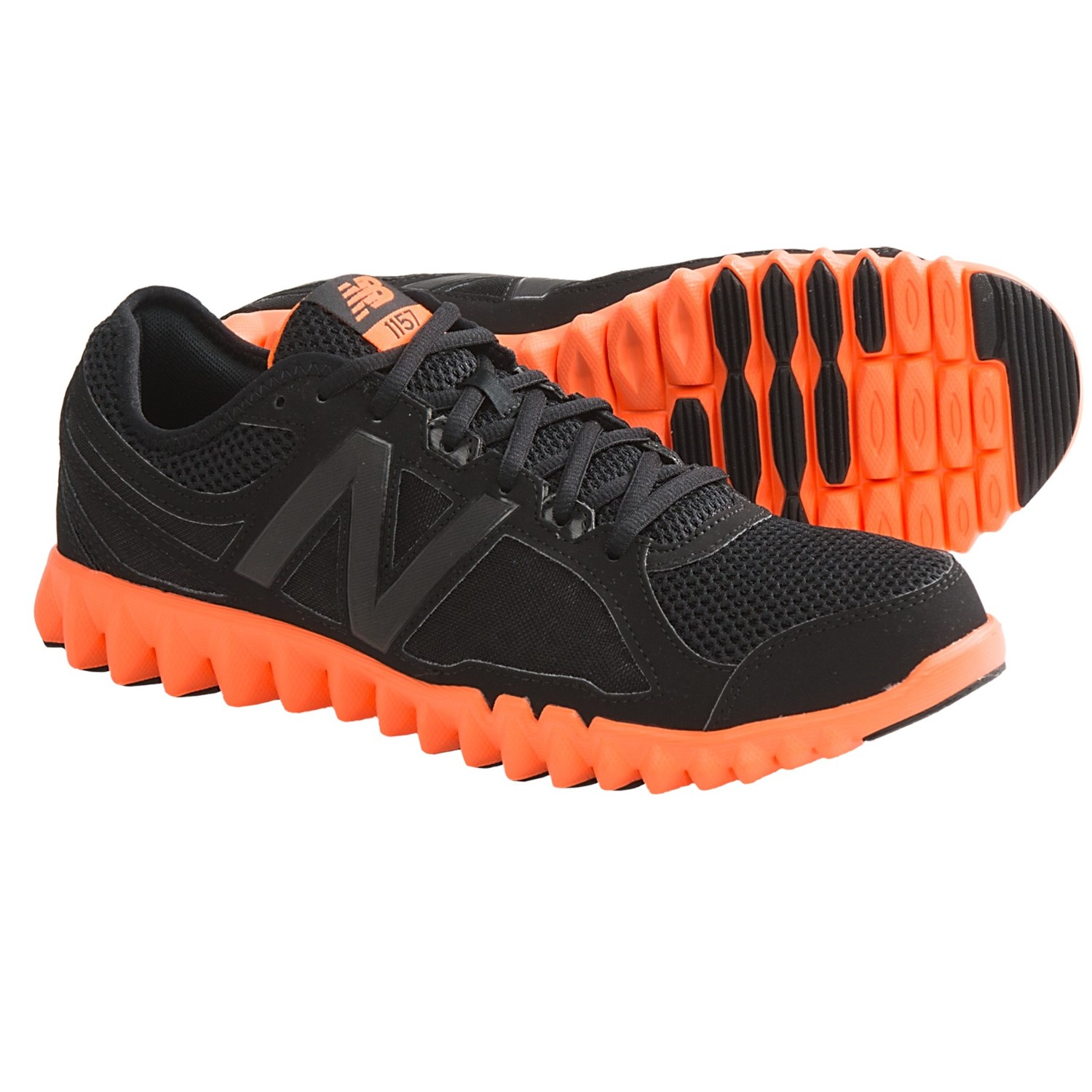 New Balance MX1157 Training Shoes (For Men) in Black/Orange