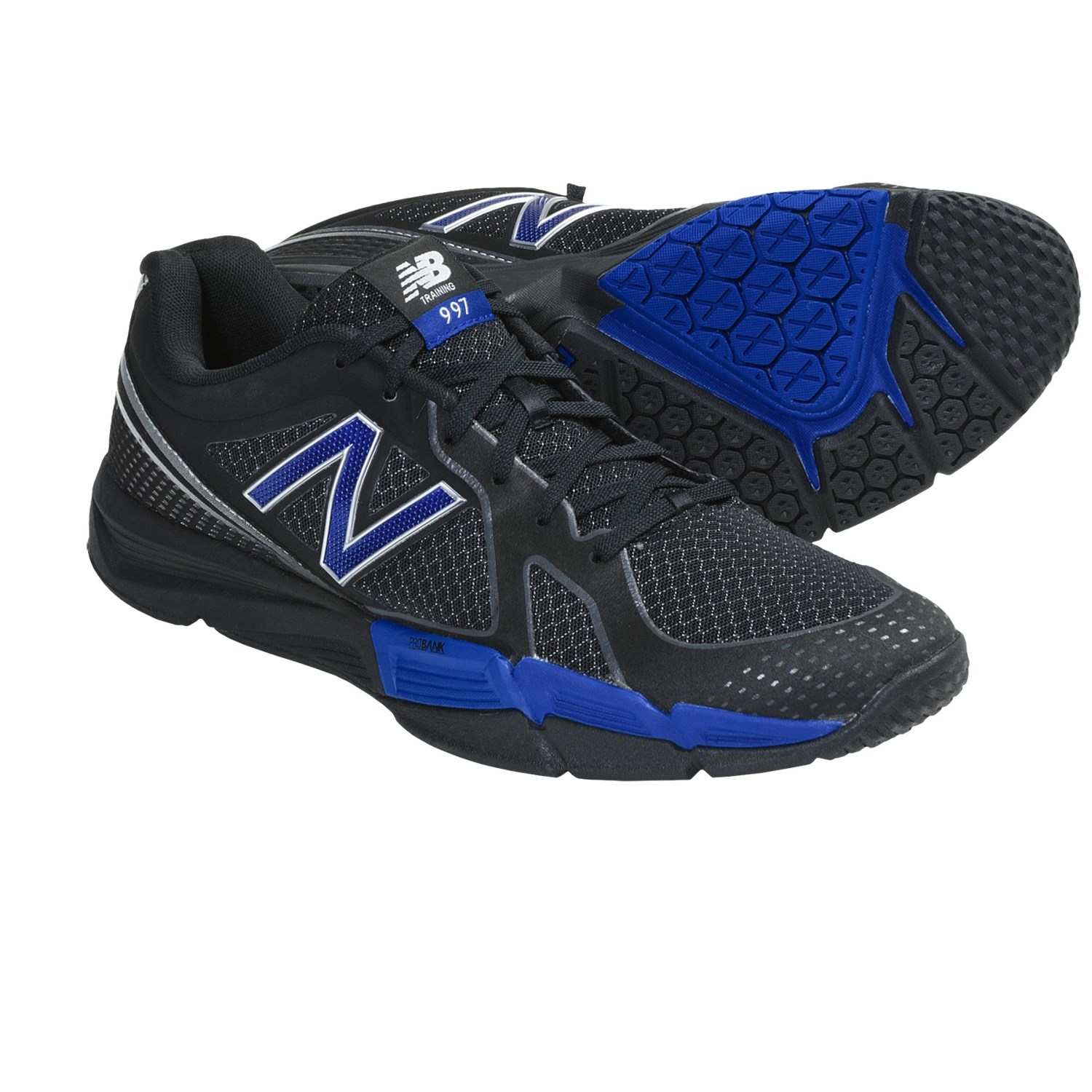 New Balance MX997 Cross Training Shoes (For Men) in Black/Blue