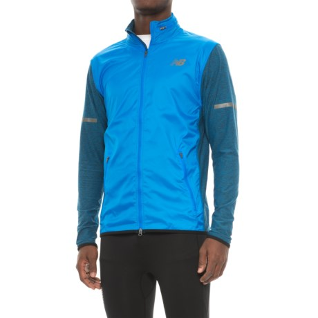 New Balance N Transit Jacket - Full Zip (For Men) in Elb Electric Blue