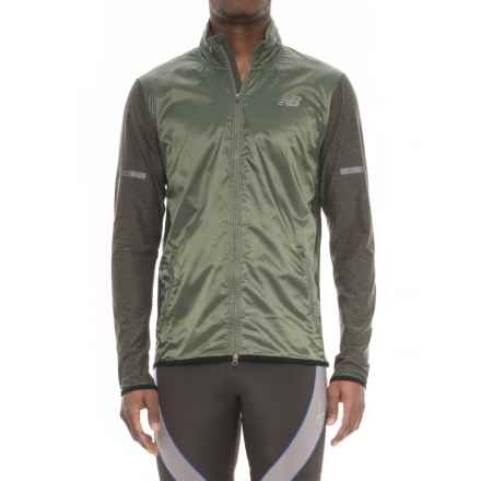 New Balance N Transit Jacket - Full Zip (For Men) in Military Dark Triump Green - Closeouts