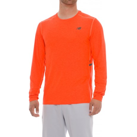 New Balance N Transit Shirt - Long Sleeve (For Men) in Dynamite
