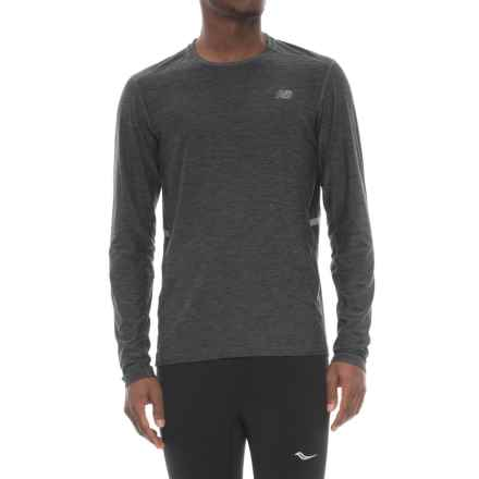 New Balance N Transit Shirt - Long Sleeve (For Men) in Heather Charcoal - Closeouts
