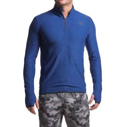 New Balance N Transit Shirt - Zip Neck, Long Sleeve (For Men) in Marlin Blue Heather - Closeouts