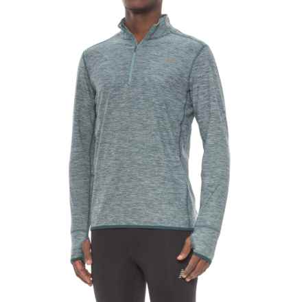 New Balance N Transit Shirt - Zip Neck, Long Sleeve (For Men) in Supercell - Closeouts