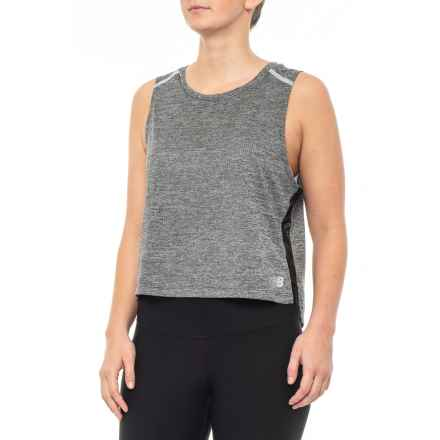New Balance NB Ice Crop Tank Top (For Women) in Black