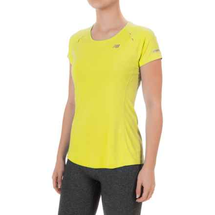 New Balance NB Ice Shirt - Short Sleeve (For Women) in Firefly - Closeouts