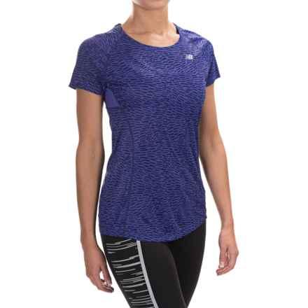 New Balance NB Ice Shirt - Short Sleeve (For Women) in Titan Multi - Closeouts