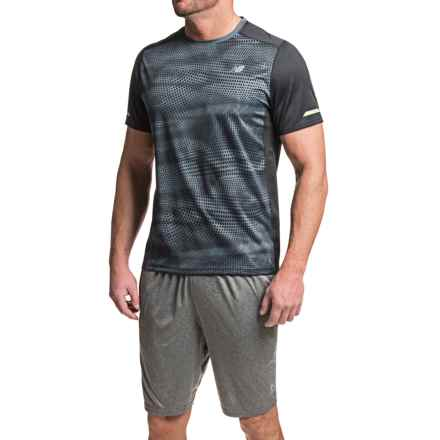 New Balance NB Ice T-Shirt - Crew Neck, Short Sleeve (For Men) in Black Multi - Closeouts