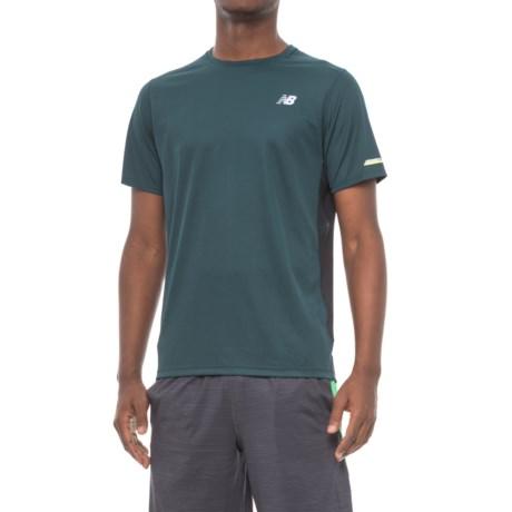 New Balance NB Ice T-Shirt - Crew Neck, Short Sleeve (For Men) in Green