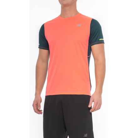 New Balance NB Ice T-Shirt - Crew Neck, Short Sleeve (For Men) in Supercell - Closeouts