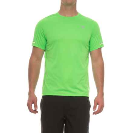New Balance NB Ice T-Shirt - Crew Neck, Short Sleeve (For Men) in Vivid Cactus - Closeouts
