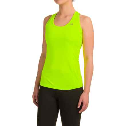 New Balance NB Ice Tank Top - Racerback (For Women) in Toxic Yellow - Closeouts