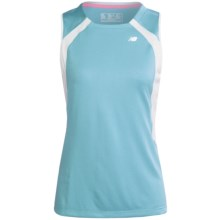 New Balance NBX Adapter Shirt - Sleeveless (For Women) in Grotto Blue/White - Closeouts