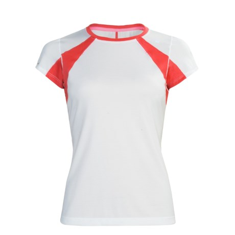 New Balance NBX Adapter T-Shirt - Short Sleeve (For Women) in White/Cayenne