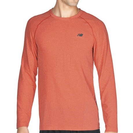 New Balance NBX Minimus Shirt - Long Sleeve (For Men) in Chinese Red