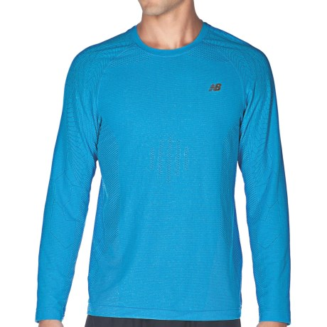 New Balance NBX Minimus Shirt - Long Sleeve (For Men) in Kinetic Blue