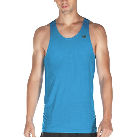 New Balance NBX Minimus Singlet Top - Sleeveless (For Men) in Kinetic Blue