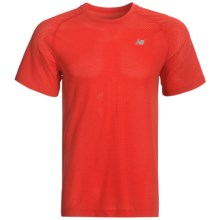 New Balance NBX Minimus T-Shirt - X-Static®, Short Sleeve (For Men) in Chinese Red - Closeouts