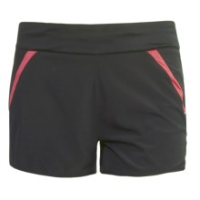 New Balance NBX Run Shorts (For Women) in Black/Cayenne - Closeouts