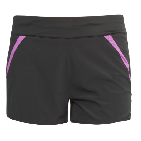 New Balance NBX Run Shorts (For Women) in Black/Spring Crocus
