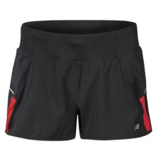 "New Balance NBX Stretch Running Shorts - 2"" (For Women) in Black/Tomato - Closeouts"