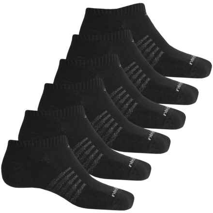 New Balance No-Show Core Cotton Socks - 6-Pack, Below the Ankle (For Men) in Black - 2nds