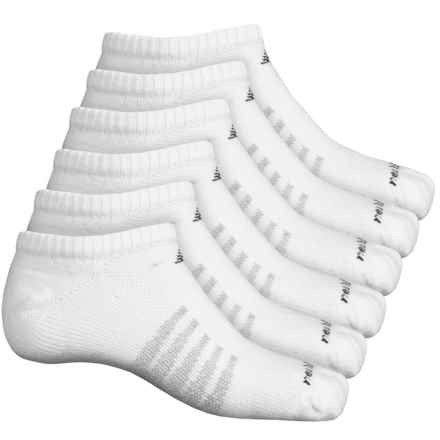 New Balance No-Show Core Cotton Socks - 6-Pack, Below the Ankle (For Men) in White - 2nds