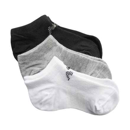 New Balance No-Show NB Dry Socks - 6-Pack, Below the Ankle (For Little and Big Kids) in Black/Grey/White - 2nds