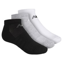 New Balance No-Show Socks - 3-Pack, Below the Ankle (For Little and Big Kids) in Black/Gray/White - Closeouts