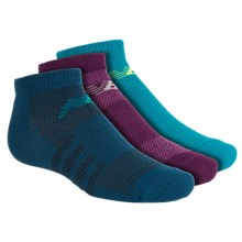 New Balance No-Show Socks - 3-Pack, Below the Ankle (For Little and Big Kids) in Purple/Teal/Blue - Closeouts
